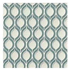 "Mallorca 11.5""x16.25"" Torre Glass Mosaic Blend, Sail & White Linen"