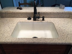These Are Before And After Pictures Of A Corian Countertop Sink Replacement  I Did Recently. The Solid Surface Sink Had Cracked, The Recently Installed  ...
