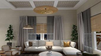 Mixed Textiles Living Room