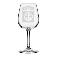 US Army 82nd Airborne Divisionall Purpose 12.75oz. Libbey Wine Glass
