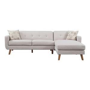Fantastic Abbyson Living Verona Fabric Sectional Sofa Cream Caraccident5 Cool Chair Designs And Ideas Caraccident5Info