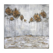 """Uttermost """"Iced Trees"""" Abstract Art, 48""""x48"""""""