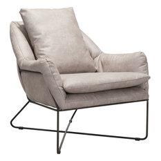 Finn Lounge Chair, Distressed Gray