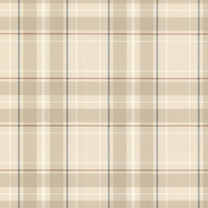 Caledonia Plaid Wallpaper, Khaki