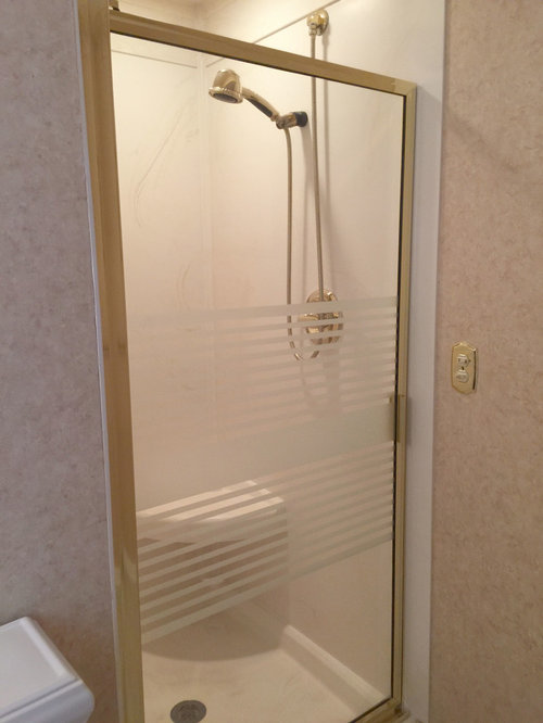 Venaro White Corian Countertop & Shower with Bathroom Update ~ Akron, OH