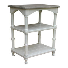 Island Bedside Table White