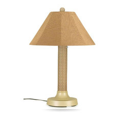 """Bahama Weave 34"""" Table Lamp 26175 With 3"""" Mojavi Wicker Body, Bisque Base"""