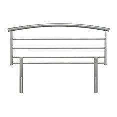 Headboard, Silver Solid Metal, Modern Design, 135 cm