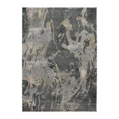 """Nourison Fusion Contemporary Area Rug, Beige/Gray, 7'10""""x10'6"""""""