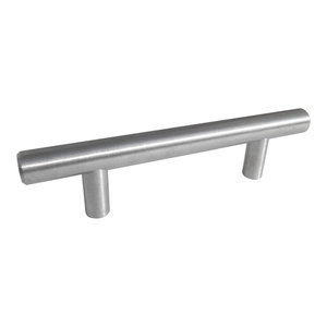 "Celeste Bar Pull Cabinet Handle Brushed Nickel Stainless Steel, 4""x6"""