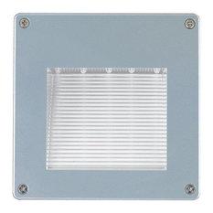 "Jesco Lighting HG-ST08L-12V-Y 6.19"" 0.9W 15 LED Large Recessed Wall Step Light"