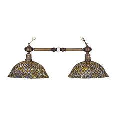"Meyda Tiffany 27410 36.5""L Tiffany Fishscale 2-Light Island Pendant"