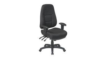 Office Star Black High Back Multi Function Ergonomic Chair