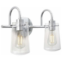 2 Light Hallway Wall Sconce Bathroom Vanity Light Chrome