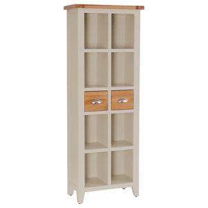 2-Drawer Bookcase, Putty