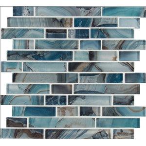 Night Sky Interlocking Pattern Crystallized Glass Mosaic, Sample