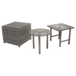 Tropical Outdoor Side Tables by GDFStudio