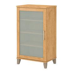Bush Furniture Somerset Media Storage Cabinet, Maple Cross
