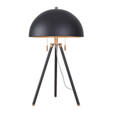 "Kenroy Home 35345 Trey 2 Light 28"" Tall Tripod Table Lamp - Matte Black /"