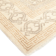 """Solo Rugs - Khotan Hand Knotted Area Rug, 9'1""""x12'1"""" - Area Rugs"""
