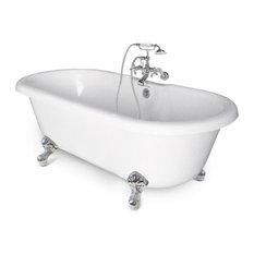 Chelsea Collection Double Ended Tub, Chrome Feet