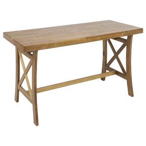 Winsome Wood Folding Computer Desk Natural Beechwood