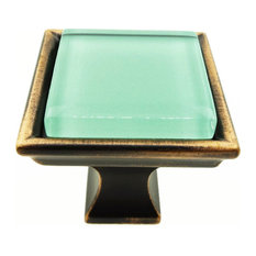 Eton Blue Green Crystal Glass Oil Rubbed Bronze Madison Classic Knob