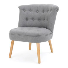 GDF Studio Donna Plush Modern Tufted Accent Chair Gray