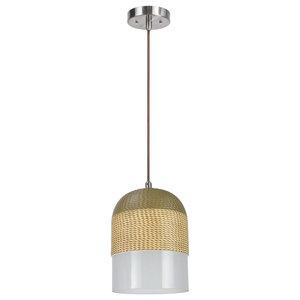 61079-1 Adjustable 1-Light Hanging Mini Pendant Ceiling Light, Chrome