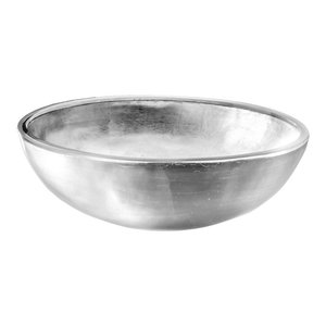 Camille Resin Vessel Sink, Silver, 40x13 cm