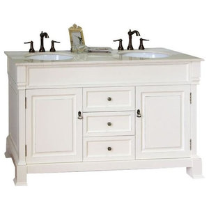 Elegant Decor Vf12360daw Otto Vanity Set Antique White