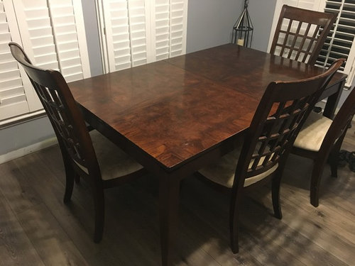 Dining Room Table And Chairs Paint Refinish
