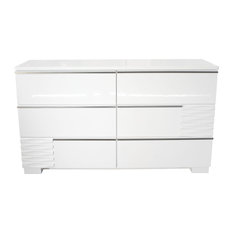 Athens White Lacquer Bedroom Dresser