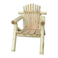 White Cedar Log Outdoor Adirondack Chair