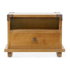 Harmonia Living - Kobe Small Nightstand, Danish Honey - Nightstands and Bedside Tables