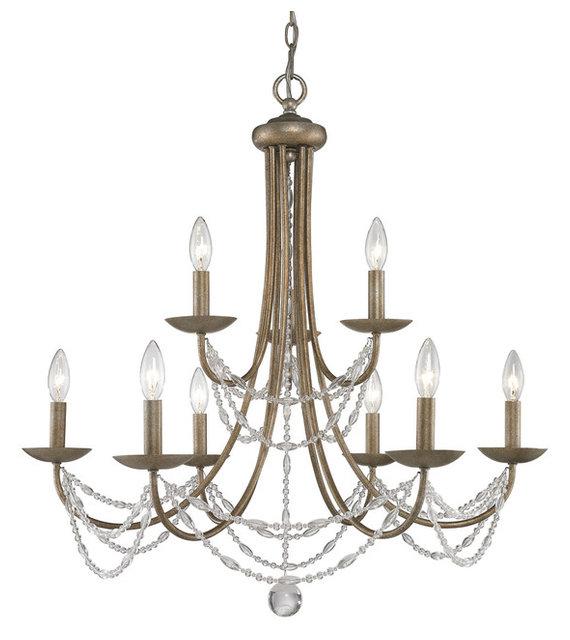 Mirabella chandelier golden aura