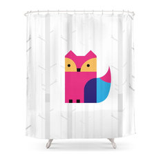 The Missing Scarf, Fox Shower Curtain