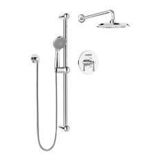 Belanger Pressure Balanced Diverter Dual Shower Head Complete Shower System