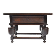Consigned Antique Holland  Dutch Chestnut Tavern Table 19th Century