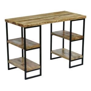 vidaXL Mango Wood Office Desk, 110x55x76 cm