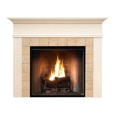 """Monticello Fireplace Mantel, White, 48""""x42""""x1.5"""""""