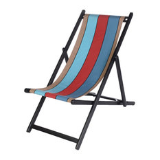 Java UV-Resistant Deckchair Sling, Red and Aqua