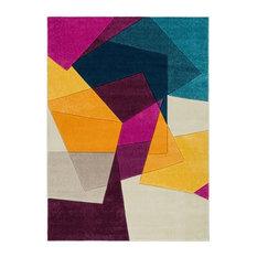 """Well Woven - Well Woven Ruby Bombay Modern Geometric Violet RU-28 Area Rug, 5'3""""x7'3"""" - Area Rugs"""