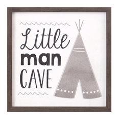 Teepee Little Man Cave 20x20 Framed Wall Art Print