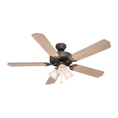 "3 Light 52"" Palladium Triple Ceiling Fan, Light Maple, Cherry"