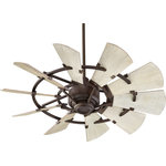 "Goodman Designs - 44"" Windmill OiLED Bronze Transitional Ceiling Fan - Product Style : Transitional"