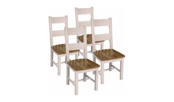 Vinton Silent Grey Oak Dining Chairs, Set of 4