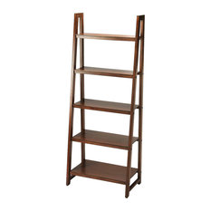 Butler Free Standing Mahogany Wood Crafted Bookcase Dark Brown
