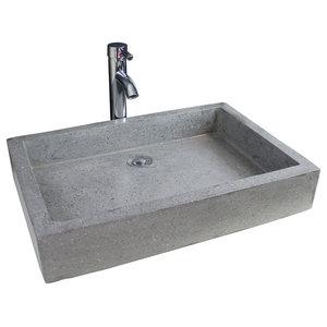 Timbre Bathroom Vessel Sink, Anthracite, 60 cm