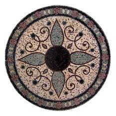 "Modern Flower Mosaic, Begonia, 24""x24"""